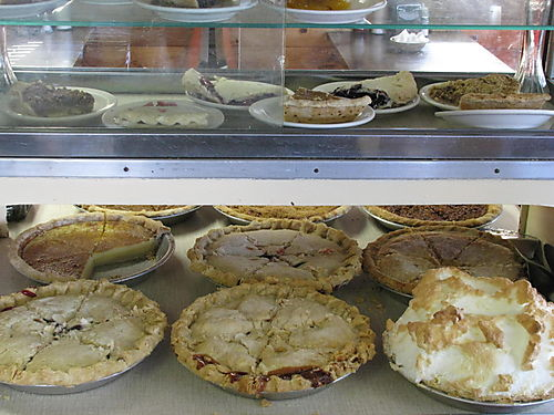 Pies in case