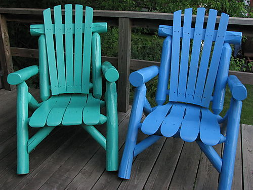 Green and blue chairs