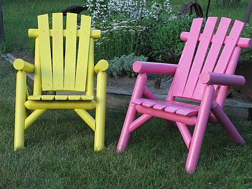 Yellow and pink chairs
